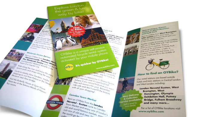 OYBike leaflet design by Creative Heights